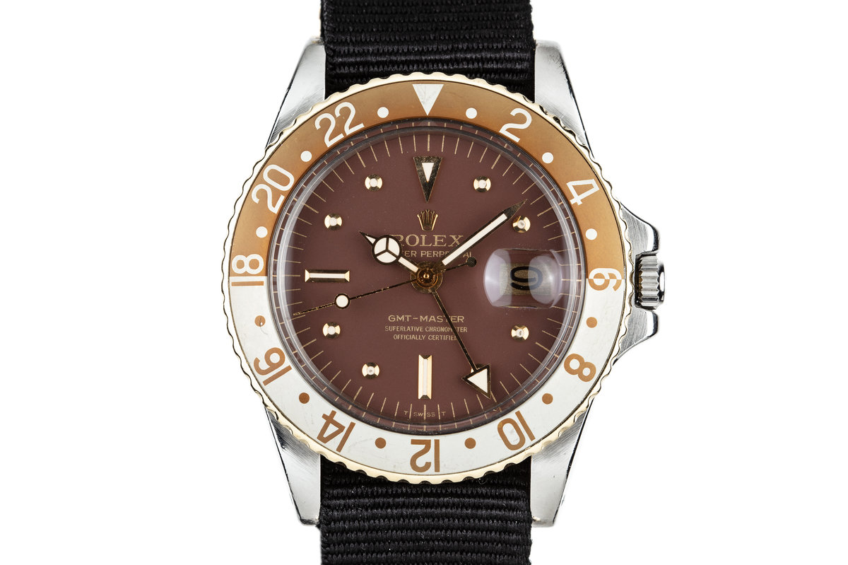1975 Rolex Two Tone GMT-Master 1675 with Brown Nipple Dial photo, #0