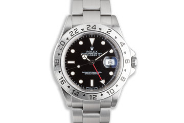 1988 Rolex Explorer II 16570 Black Dial with Service Papers photo