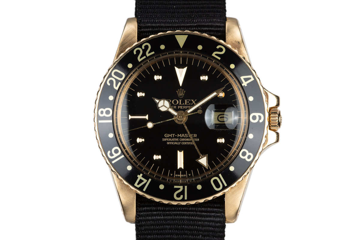 1979 Rolex 18K YG GMT-Master with Black Nipple Dial photo, #0