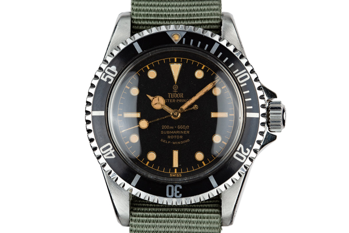 1963 Tudor Gilt Submariner 7928 with Pointed Crown Guard Case photo, #0