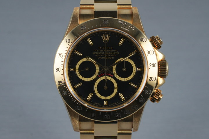 1991 Rolex 18K YG Zenith Daytona 16528 with Box and Papers photo