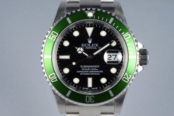 2004 Rolex Green Submariner 16610LV Mark I Dial and Insert photo