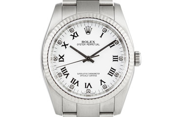 Rolex Oyster Perpetual 116034 with Diamond Markers and Box and Papers photo