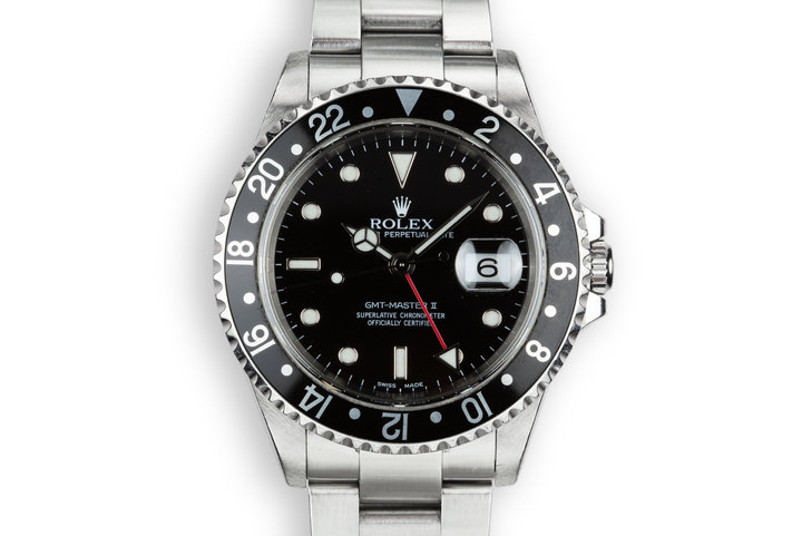 1999 Rolex GMT-Master II 16710 Black Bezel with Box and Papers photo