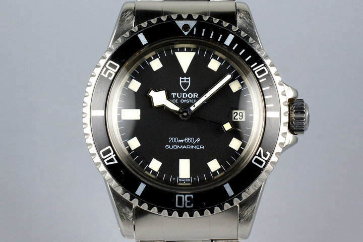 1981 Tudor Submariner 94110 Black Snowflake with Box photo