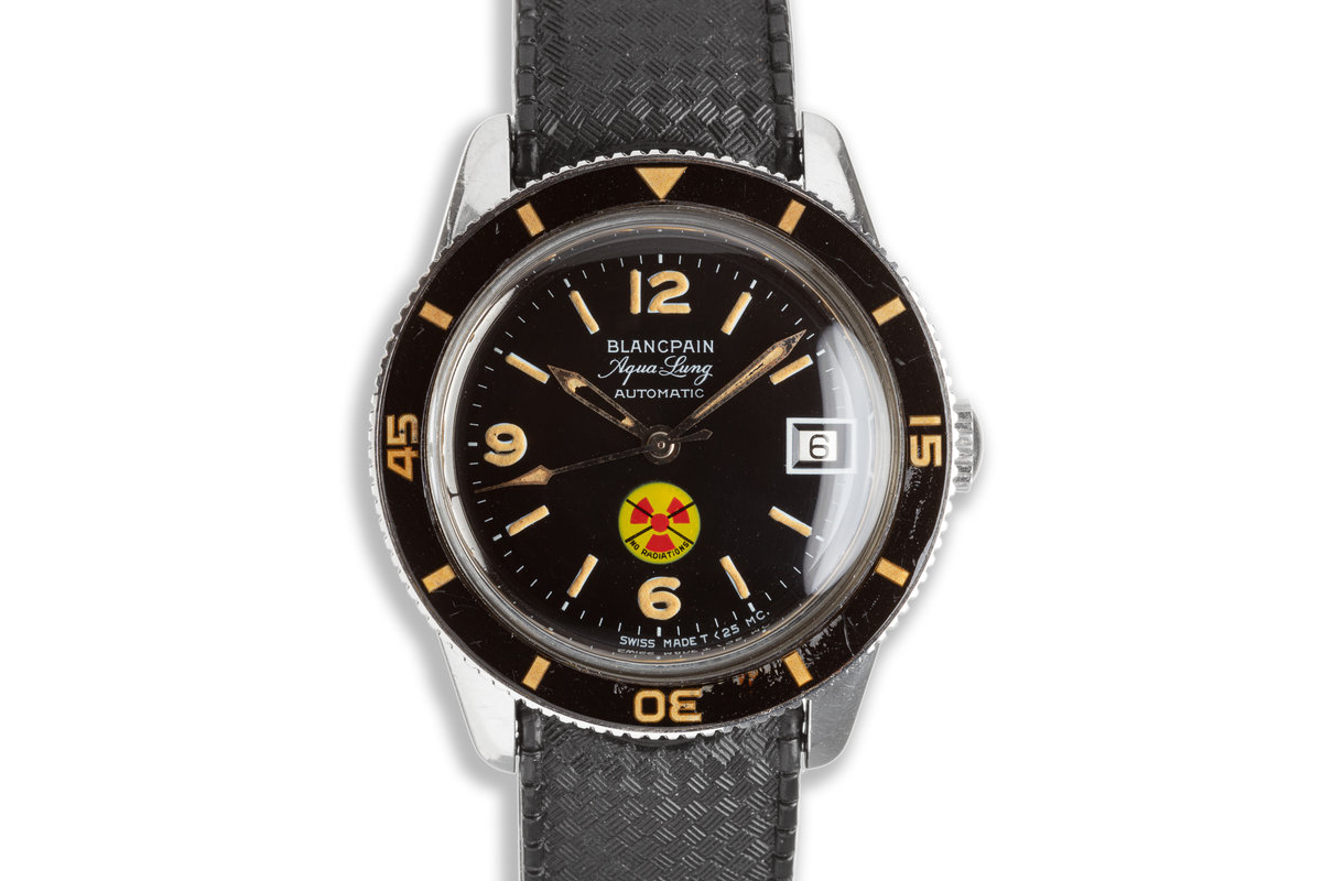 """Blancpain Aqua Lung Fifty Fathoms """"No Radiations"""" Automatic with Official Service Papers photo, #0"""