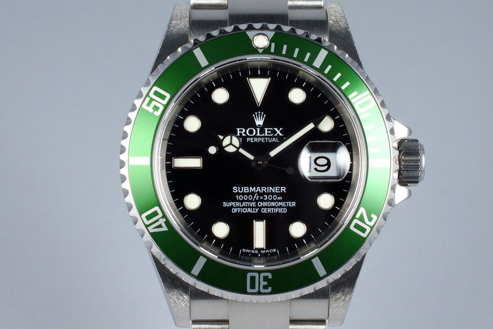 2006 Rolex Green Submariner 16610V with Box and Papers photo