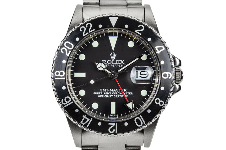 1978 Rolex GMT-Master with Black Bezel Insert and Luminova Service Dial photo