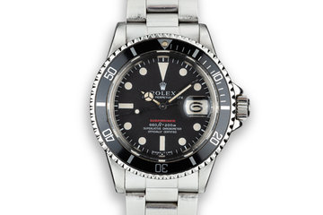 1972 Rolex Red Submariner 1680 with MK IV Dial photo
