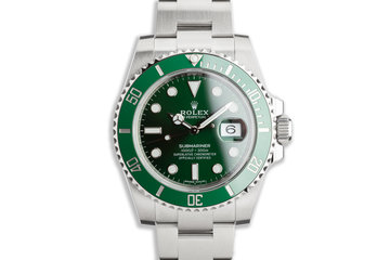 "2018 Unworn Rolex Green Submariner 116610LV ""Hulk"" with Box & Card photo"