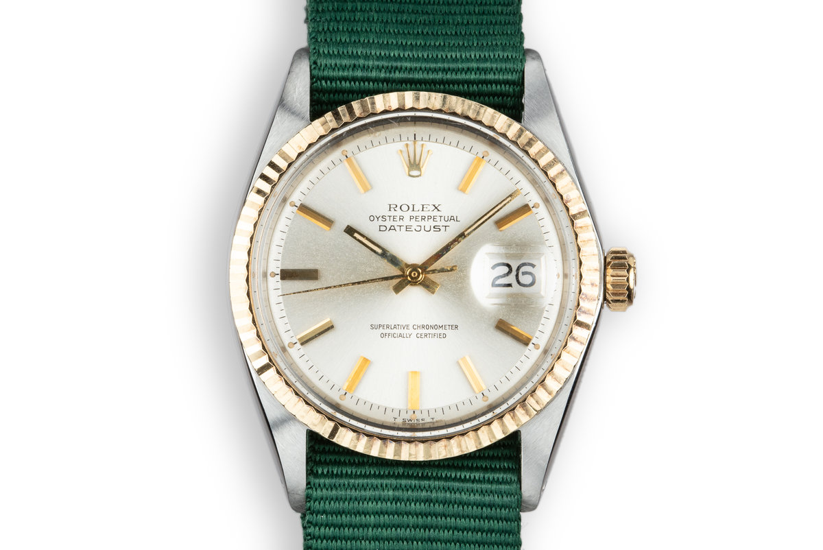 1969 Rolex Two-Tone DateJust 1601Silver Dial photo, #0