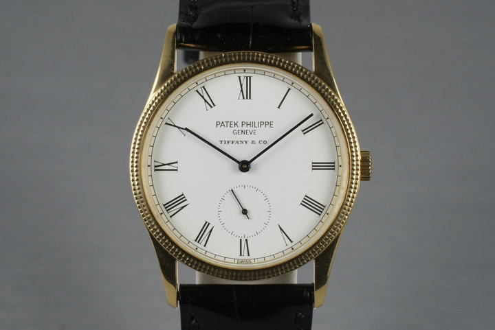 1990's YG Patek Philippe 3796d with Tiffany and Co. Dial photo
