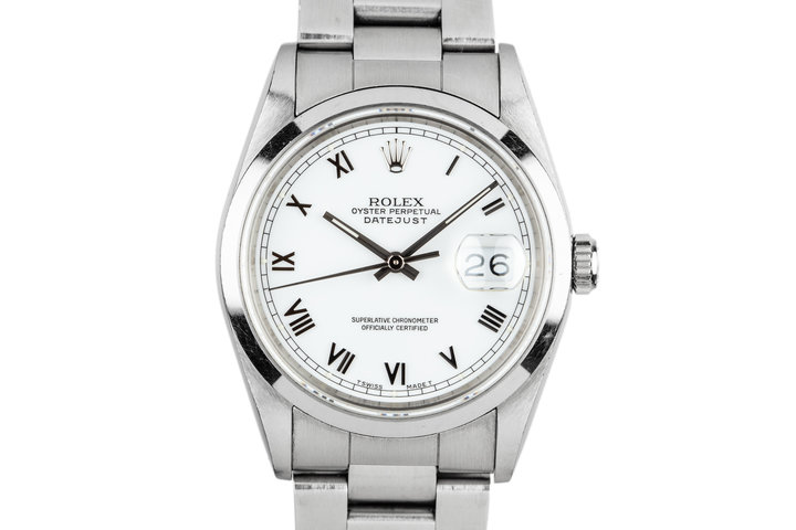 1993 Rolex DateJust 16200 White Roman Dial photo