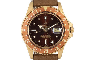 1971 Rolex 18K YG GMT 1675 with Rootbeer Dial photo