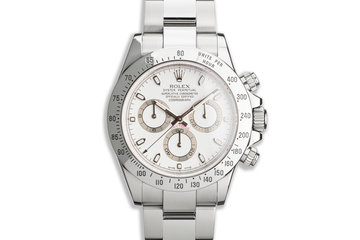 2010 Rolex Daytona 116520 White APH Dial with Box & Card photo