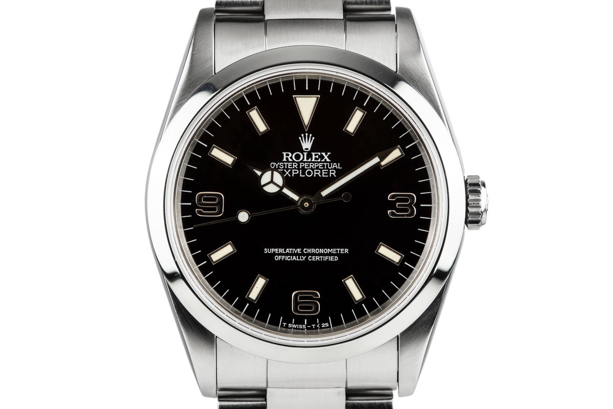 1991 Rolex Explorer 14270 with 'Black Out' Dial photo, #0