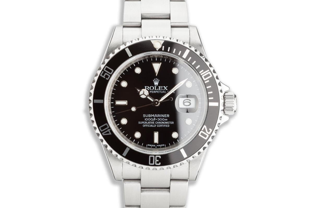 2009 Rolex Submariner Bezel Engraved 16610 T photo, #0