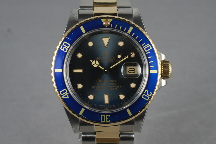 1987 Rolex Submariner 18K/SS Blue Dial 16803 photo