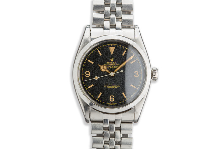 1958 Vintage Rolex Explorer 6610 Gilt Dial with Box and Papers with Ownership Provenance photo
