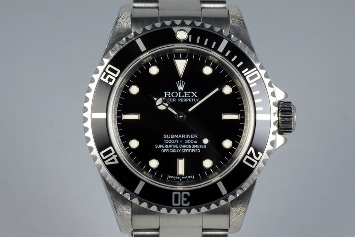 2006 Rolex Submariner 14060M 4 Line Dial with Box and Papers photo