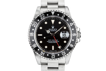 1995 Rolex GMT-Master 16700 Black Bezel with Service Papers photo