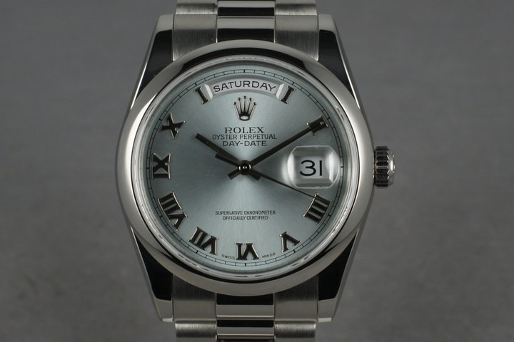 2001 Platinum  President  118206 with Glacier Blue Dial photo