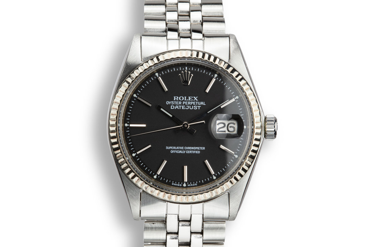 1970 Rolex DateJust 1601 with Black Service Dial photo, #0
