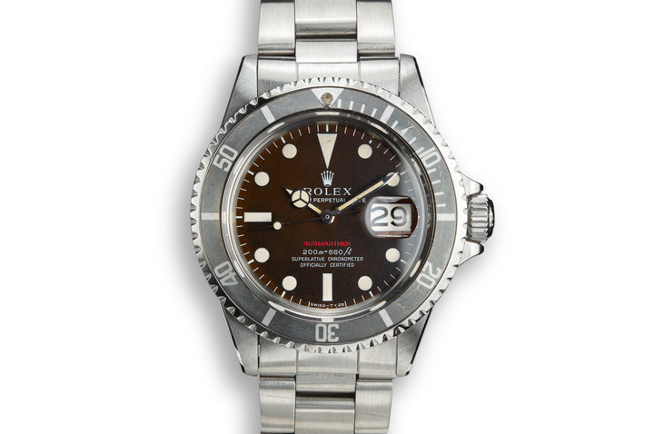 1970 Rolex Red Submariner 1680 MK II Tropical Dial photo