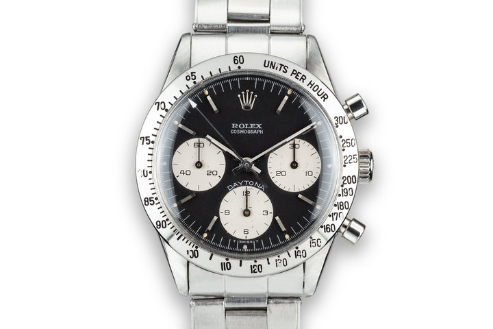 "1964 Rolex Daytona 6239 Black ""Blue Daytona""  Dial photo"