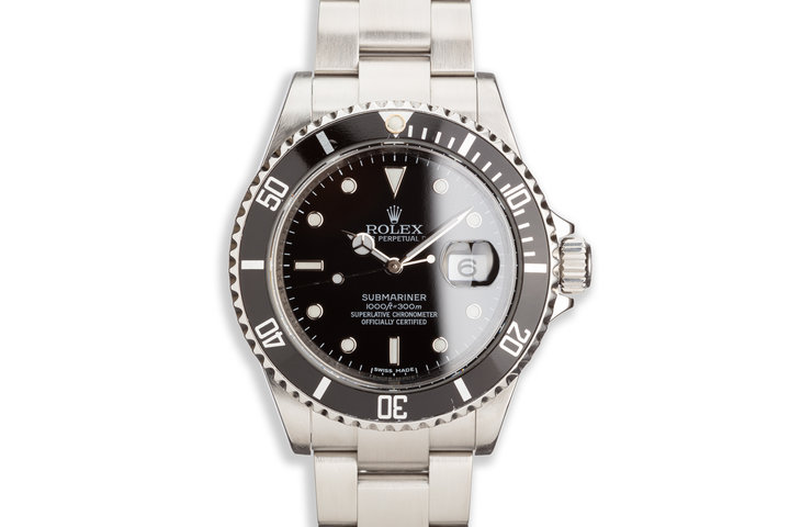 2008 Bezel Engraved Rolex Submariner 16610 photo