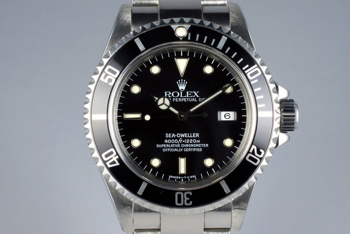 1998 Rolex Sea Dweller 16600 with RSC Papers photo