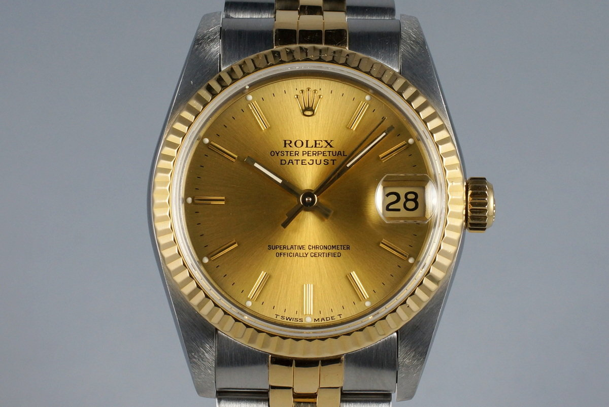 1991 Rolex MidSize Two Tone DateJust 68273 with Box and Papers photo, #0