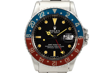 1972 Rolex GMT 1675 Matte Black Dial photo