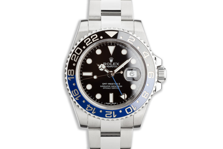 "2013 Rolex GMT-Master II 116710 BLNR ""Batman"" with Box and Card photo"