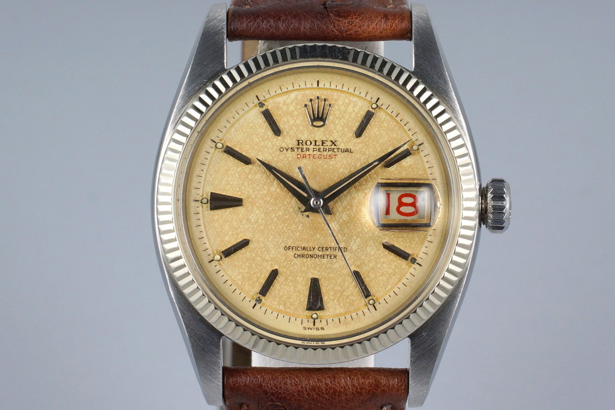 1955 Rolex DateJust 6305 1 with Red DateJust Waffle Dial photo, #0