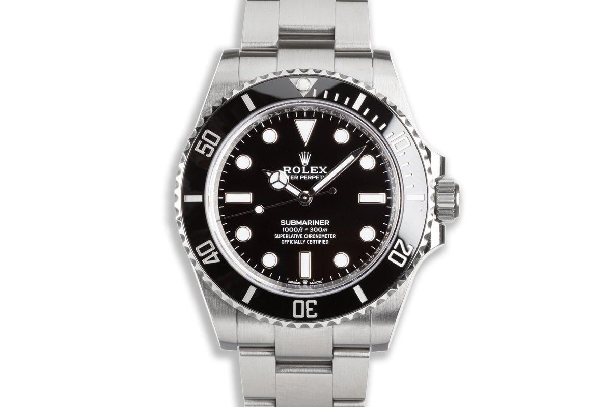 2021 41mm Rolex Submariner No-Date 124060 with Box & Card photo, #0