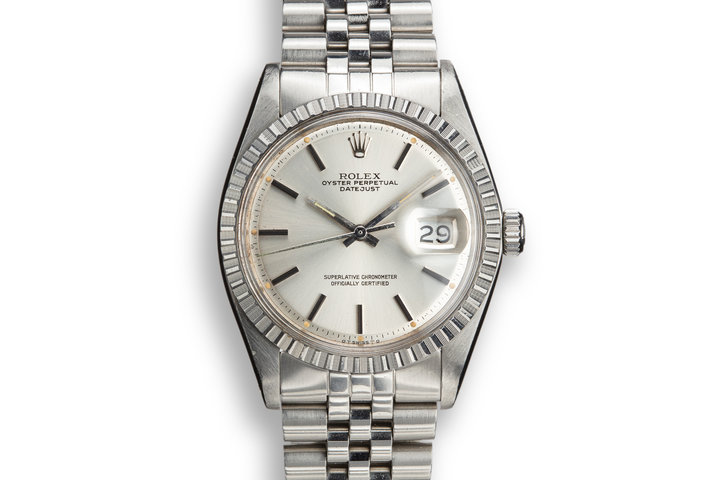 1974 Rolex DateJust 1603 Silver Sigma RAIL DIAL Dial photo