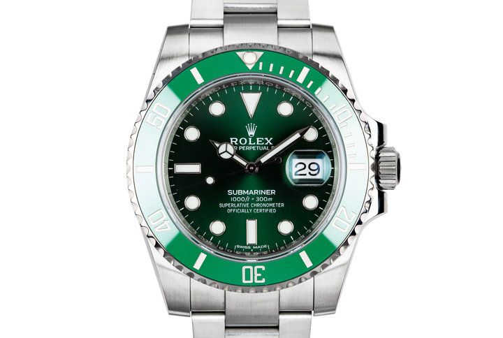 "2018 Rolex Ceramic Submariner 116610LV ""Hulk"" with Box and Papers photo"