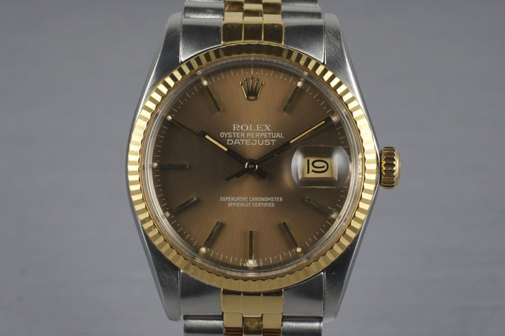 1983 Rolex Two Tone DateJust 16013 with Brown Dial photo