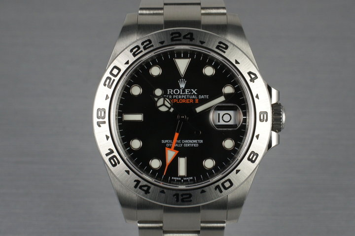 2013 Rolex Explorer II 216570 with Box and Papers photo