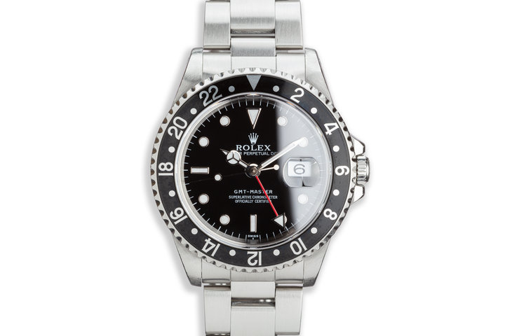 """1997 Rolex GMT-Master 16700 """"Swiss"""" with Box and Papers photo"""