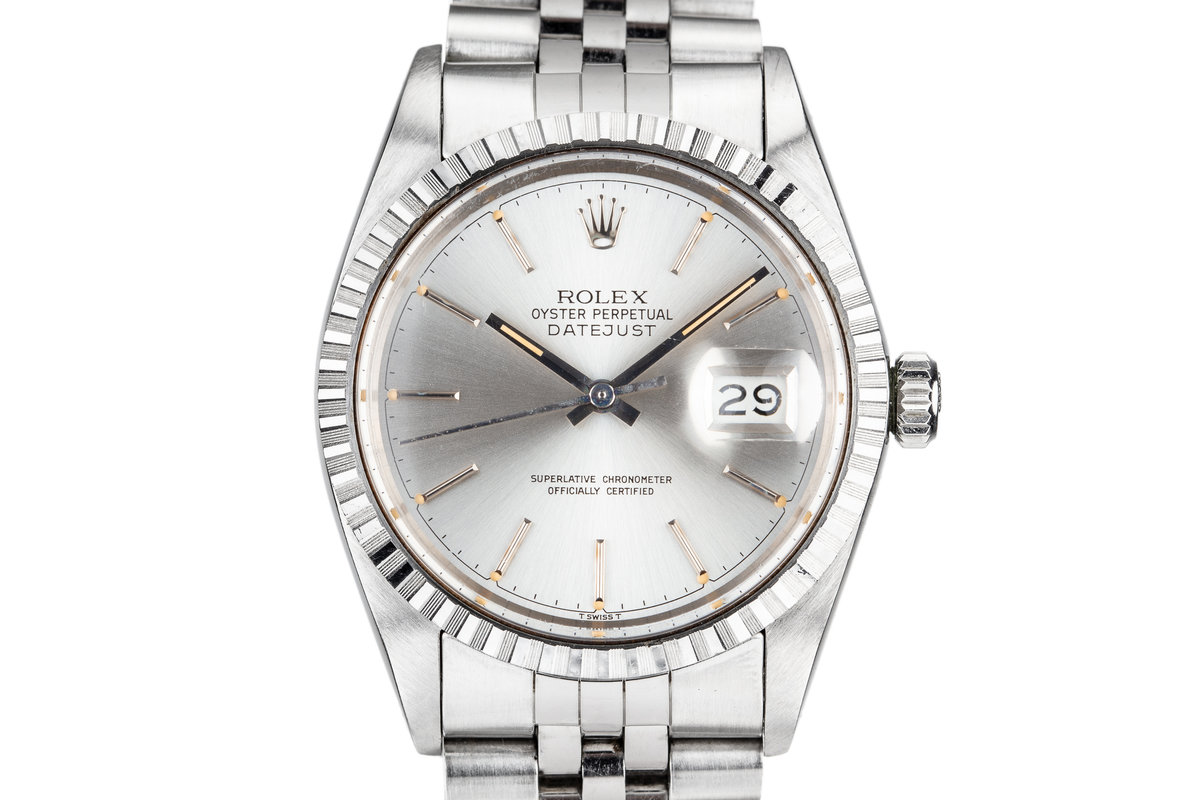 1985 Rolex DateJust 16030 Silver Dial photo, #0