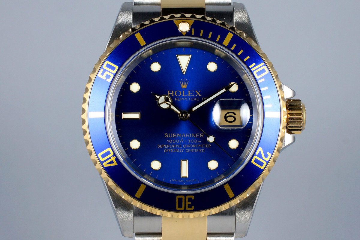 2006 Rolex Two Tone Blue Submariner 16613 photo, #0
