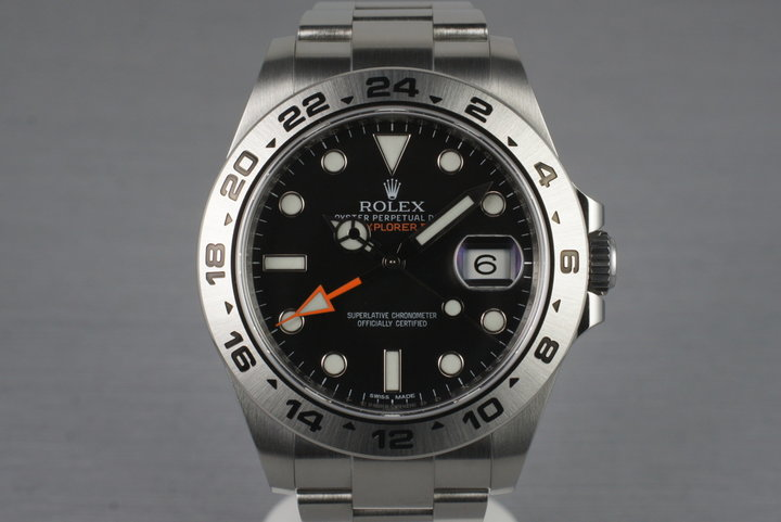 2010 Rolex Explorer II 216570 with Box and Papers photo