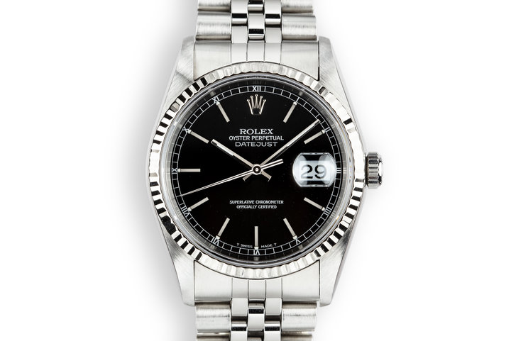 1996 Rolex DateJust 16234 Black Dial with Box and Papers photo