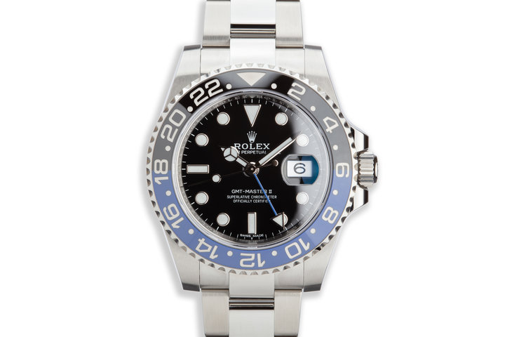 "2018 Rolex GMT-Master II 116710BLNR ""Batman"" with Box and Card photo"