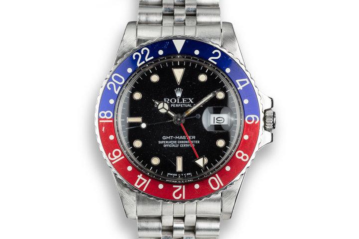 """1986 Rolex GMT-Master 16750 """"Pepsi"""" photo"""