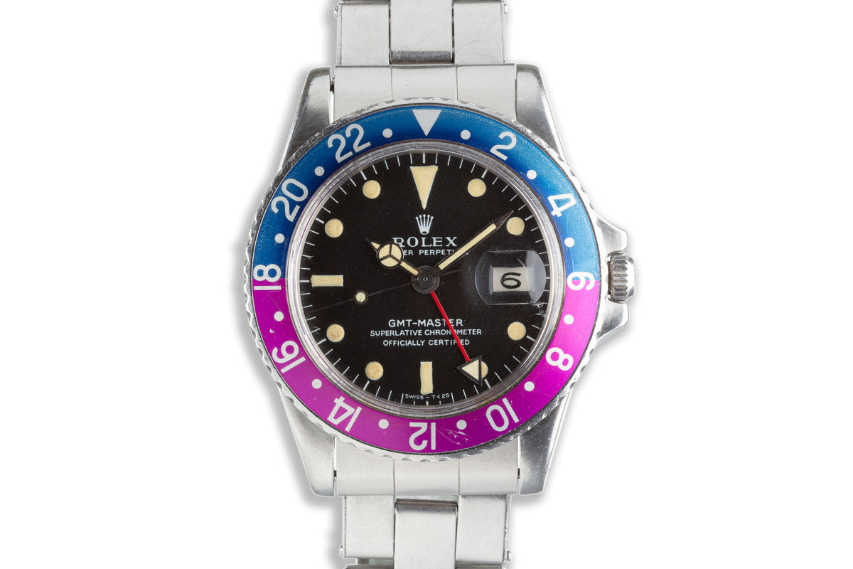 1968 Vintage Rolex GMT-Master Fuchsia with Box, Papers, Brochures and Receipt photo, #0