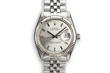 1970 Rolex DateJust 1601 with Silver No Lume Dial photo