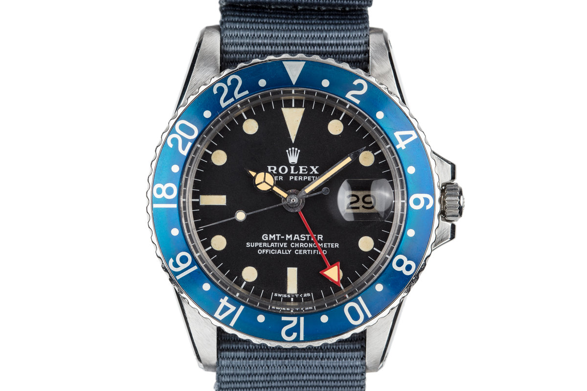1972 Rolex Blueberry GMT-Master 1675 with Red GMT Hand photo, #0